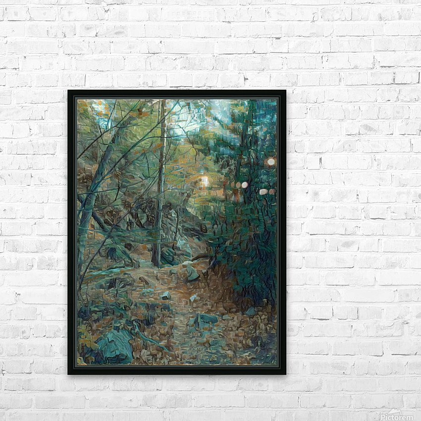 Mountain creek inspired by van Gogh HD Sublimation Metal print with Decorating Float Frame (BOX)