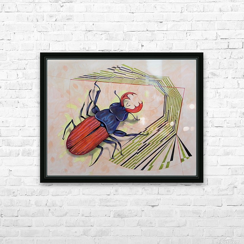 stag beetle HD Sublimation Metal print with Decorating Float Frame (BOX)