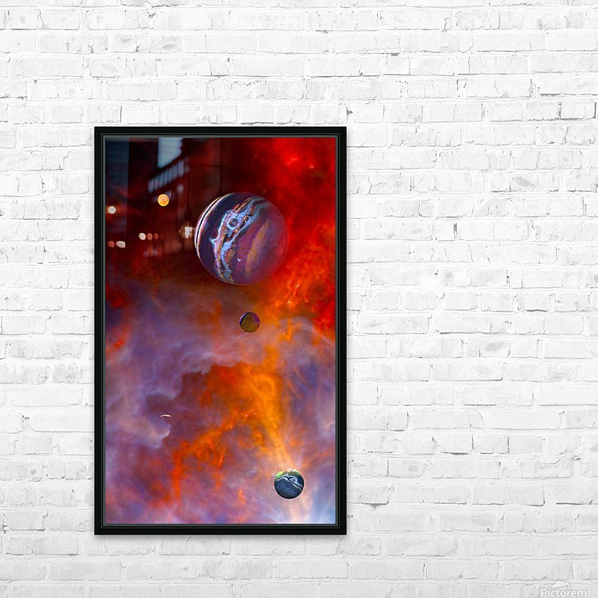 Trial By Fire HD Sublimation Metal print with Decorating Float Frame (BOX)