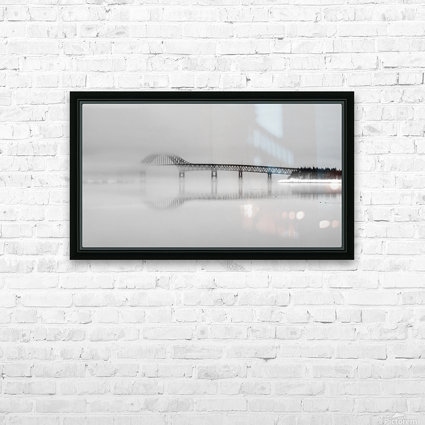 Seal Island Bridge in fog HD Sublimation Metal print with Decorating Float Frame (BOX)