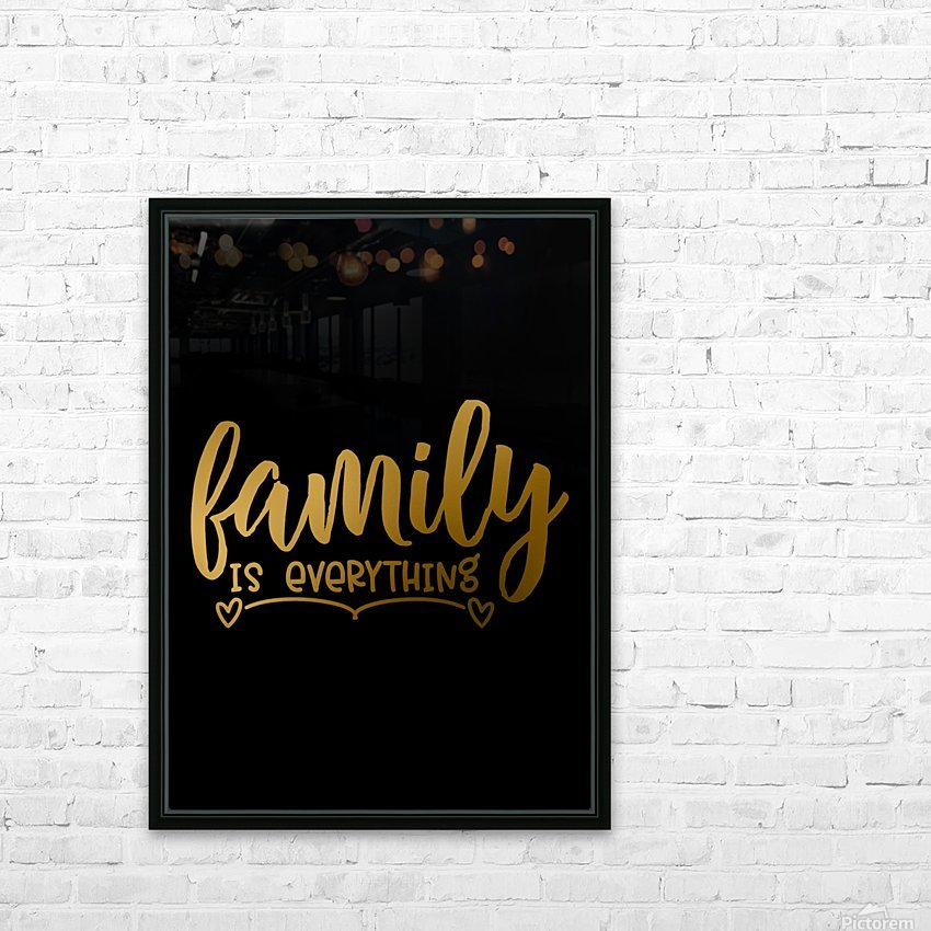 Family is Everything HD Sublimation Metal print with Decorating Float Frame (BOX)