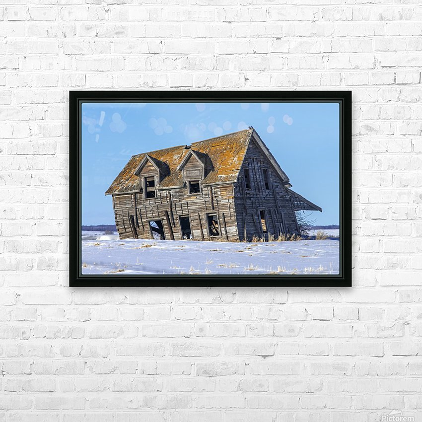 Abandoned Farm House Alberta Canada HD Sublimation Metal print with Decorating Float Frame (BOX)