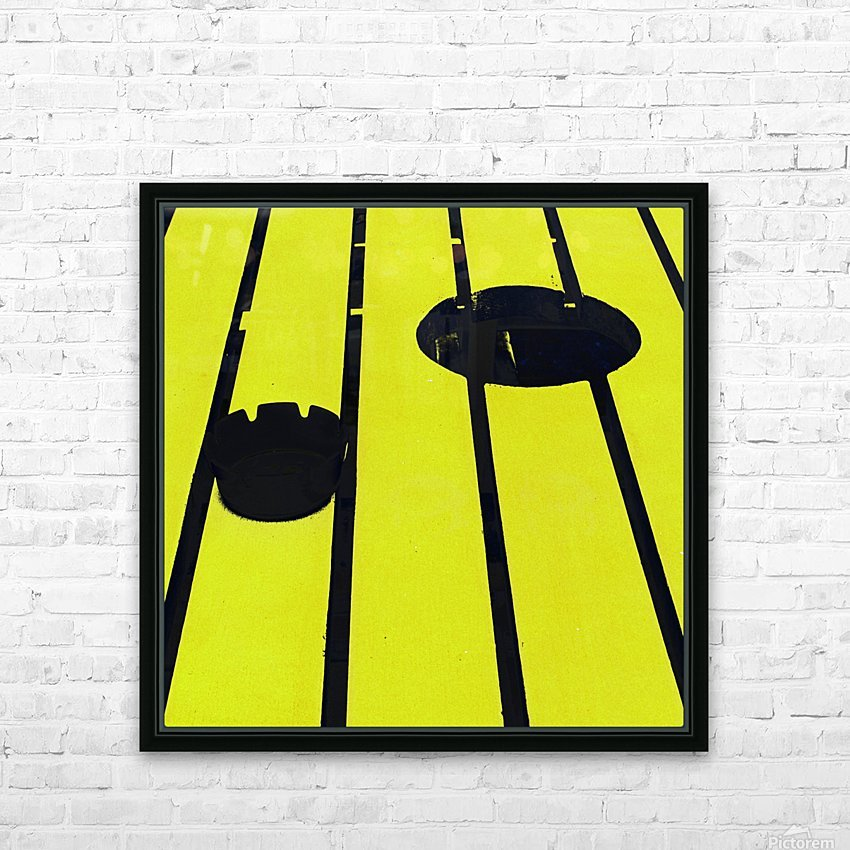 Yellow - urban pop art - square HD Sublimation Metal print with Decorating Float Frame (BOX)
