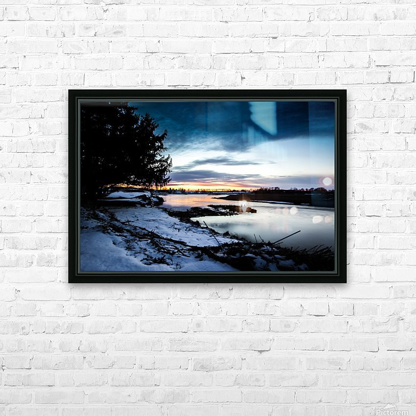 The Nith - Post Sunset HD Sublimation Metal print with Decorating Float Frame (BOX)