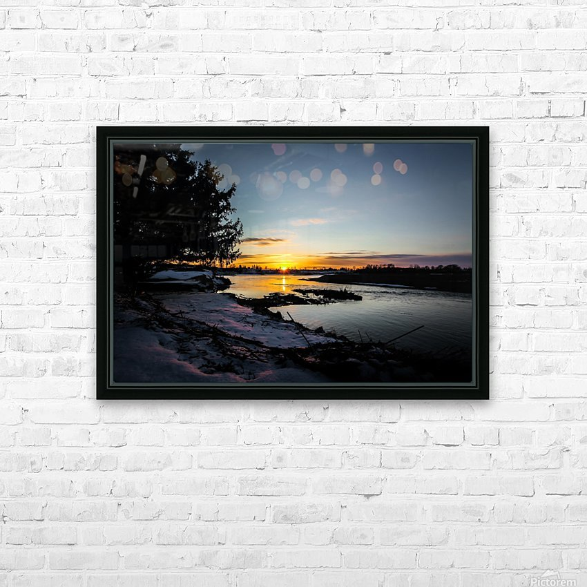 The Nith - Pre Sunset HD Sublimation Metal print with Decorating Float Frame (BOX)