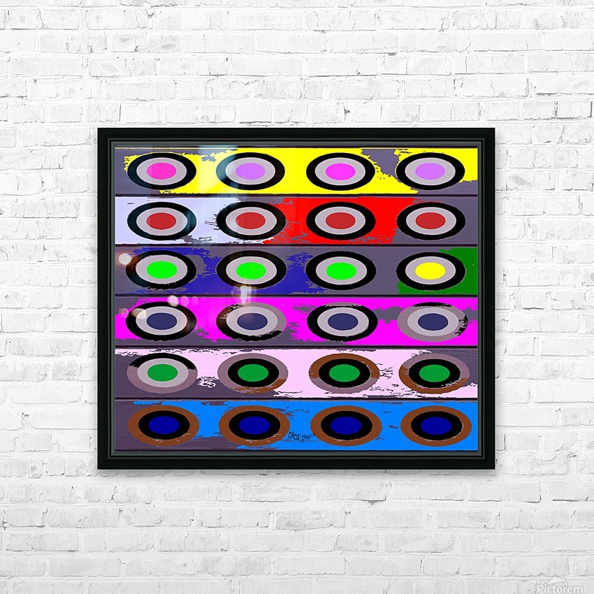 Circle Crazy by dePace HD Sublimation Metal print with Decorating Float Frame (BOX)
