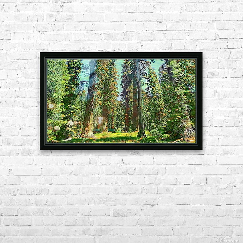 Cabin in the Woods HD Sublimation Metal print with Decorating Float Frame (BOX)