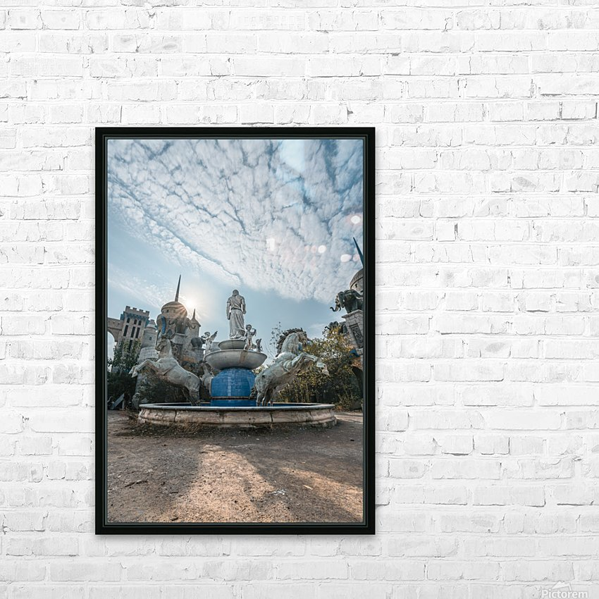 Abandoned Chinese Theme Park Sino World HD Sublimation Metal print with Decorating Float Frame (BOX)