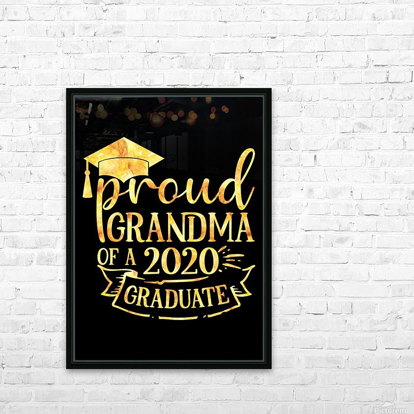 Proud Grandma of A 2020 Graduate HD Sublimation Metal print with Decorating Float Frame (BOX)