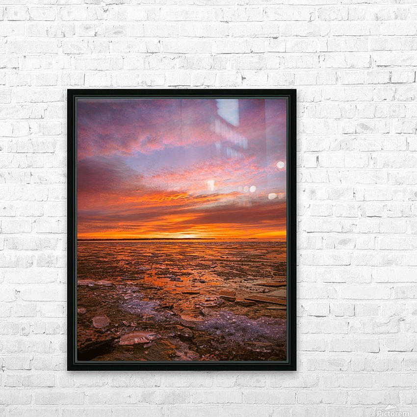 Fire and ICe HD Sublimation Metal print with Decorating Float Frame (BOX)