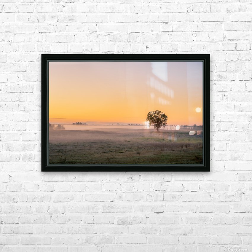 Moring Fog HD Sublimation Metal print with Decorating Float Frame (BOX)