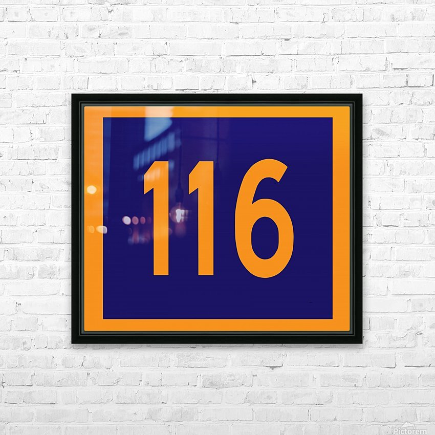 Number 116 HD Sublimation Metal print with Decorating Float Frame (BOX)