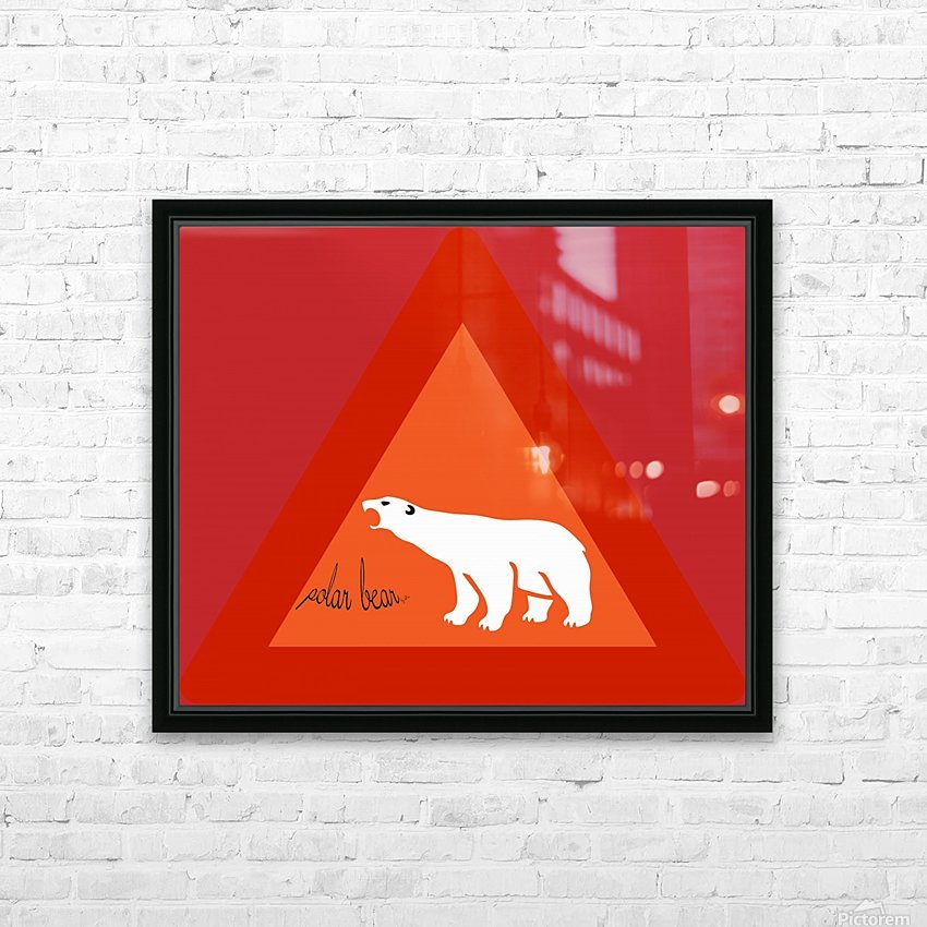 Polar Bear by dePace HD Sublimation Metal print with Decorating Float Frame (BOX)