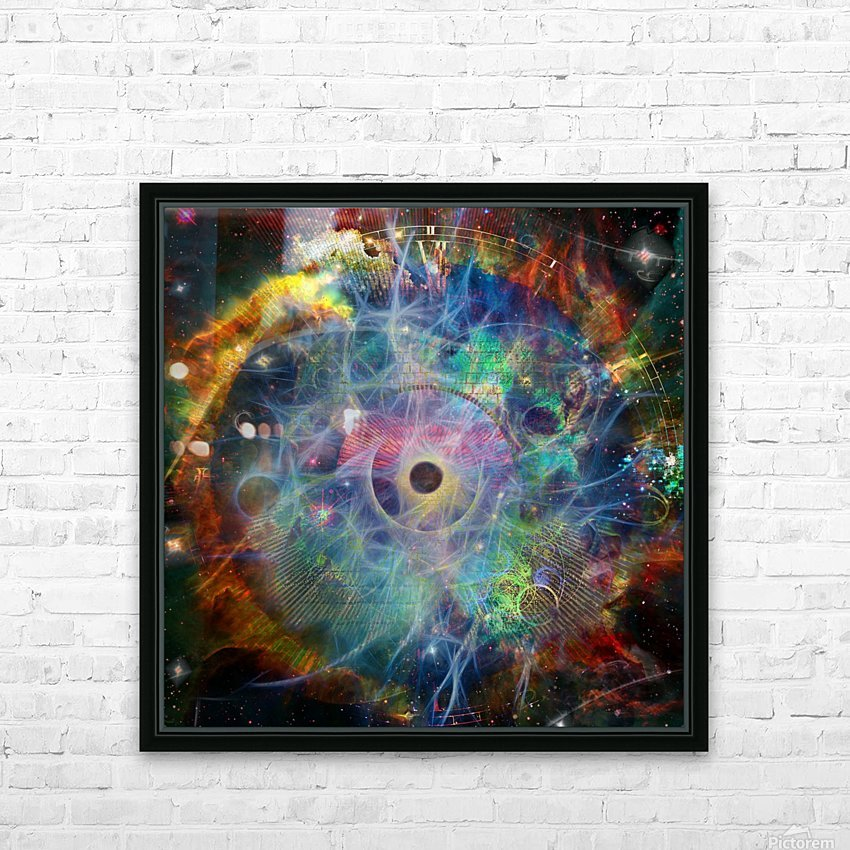 The Eye of Time HD Sublimation Metal print with Decorating Float Frame (BOX)