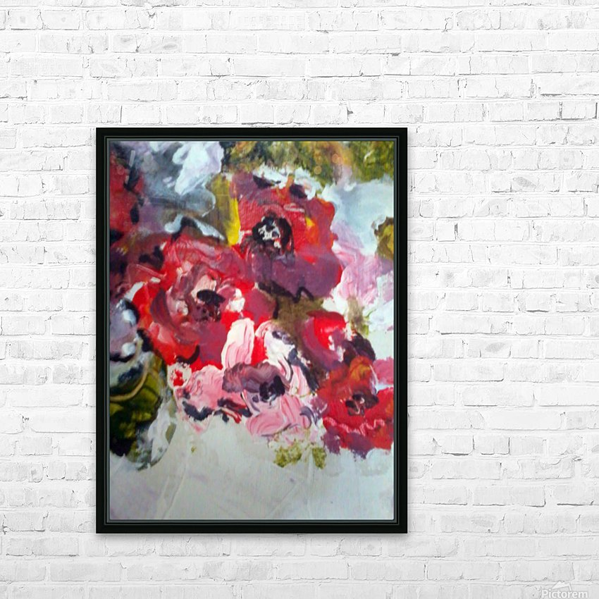 Primary Red1  HD Sublimation Metal print with Decorating Float Frame (BOX)