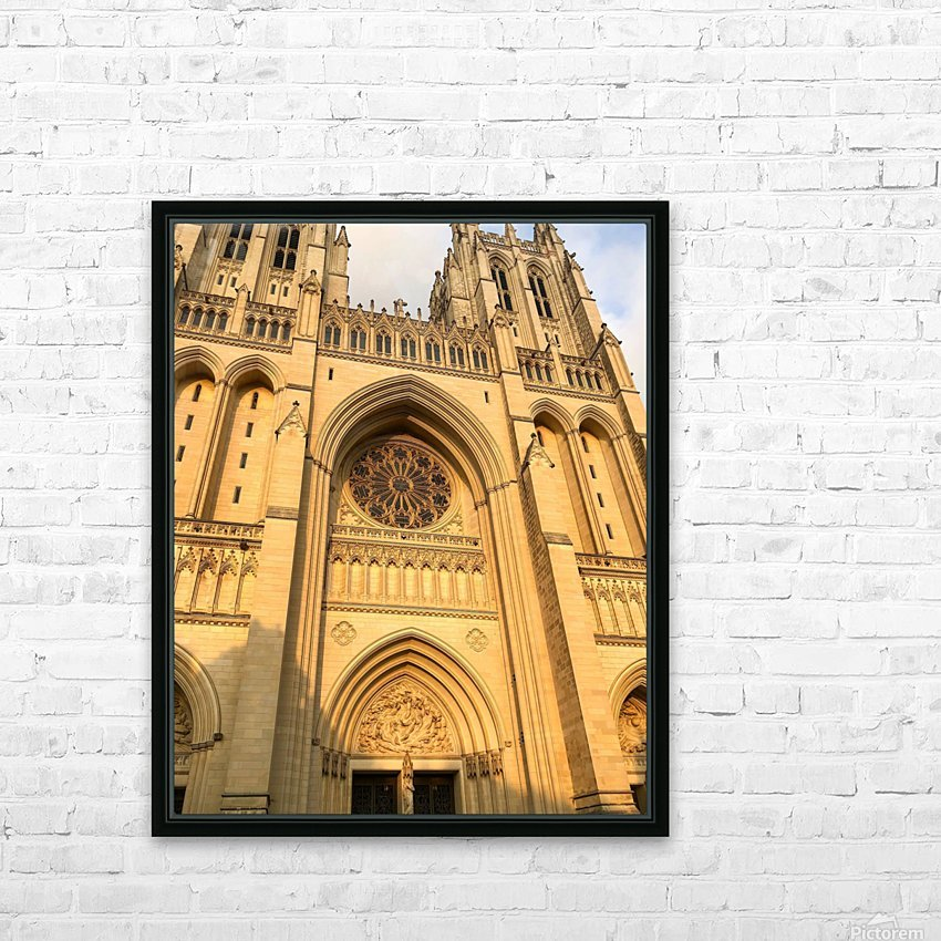 National Cathedral HD Sublimation Metal print with Decorating Float Frame (BOX)