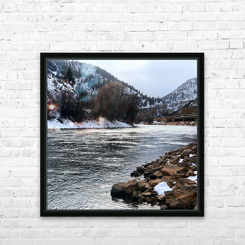 Colorado River HD Sublimation Metal print with Decorating Float Frame (BOX)