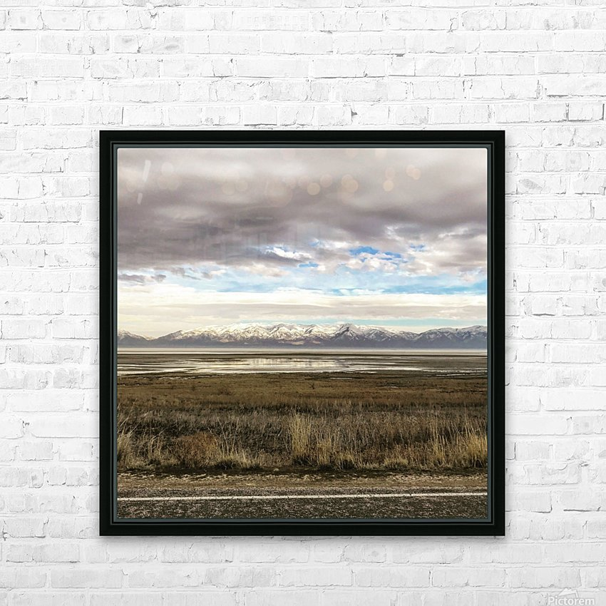Great Salt Lake HD Sublimation Metal print with Decorating Float Frame (BOX)