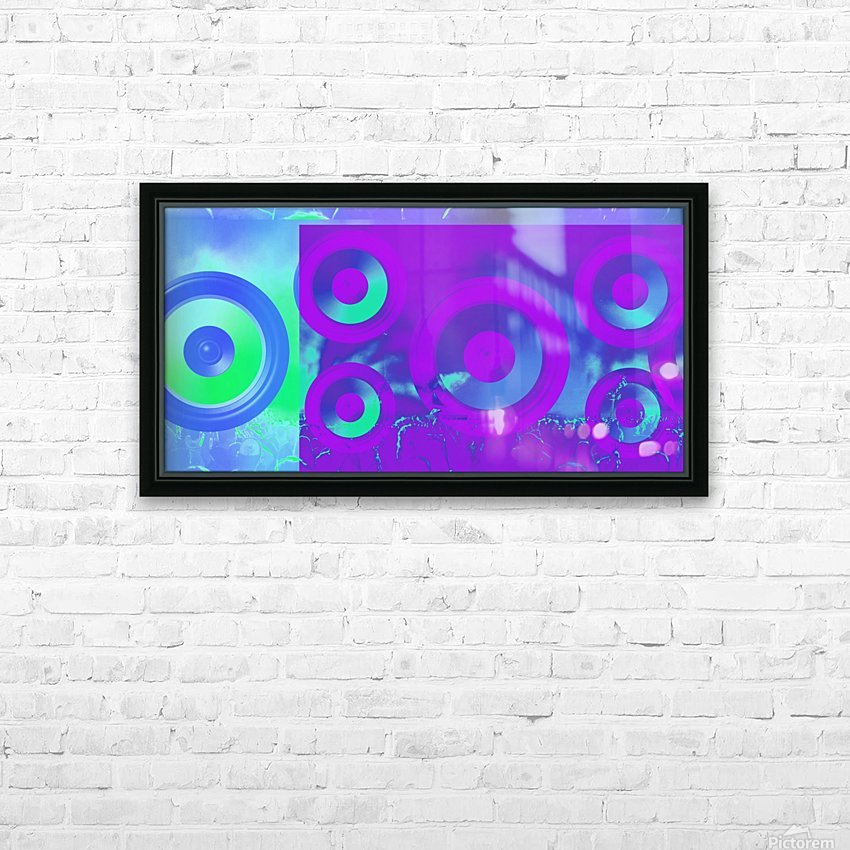 Music is energy HD Sublimation Metal print with Decorating Float Frame (BOX)