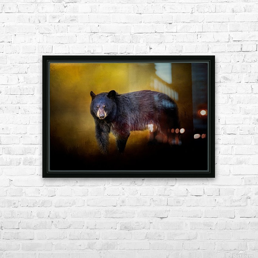 Bear HD Sublimation Metal print with Decorating Float Frame (BOX)