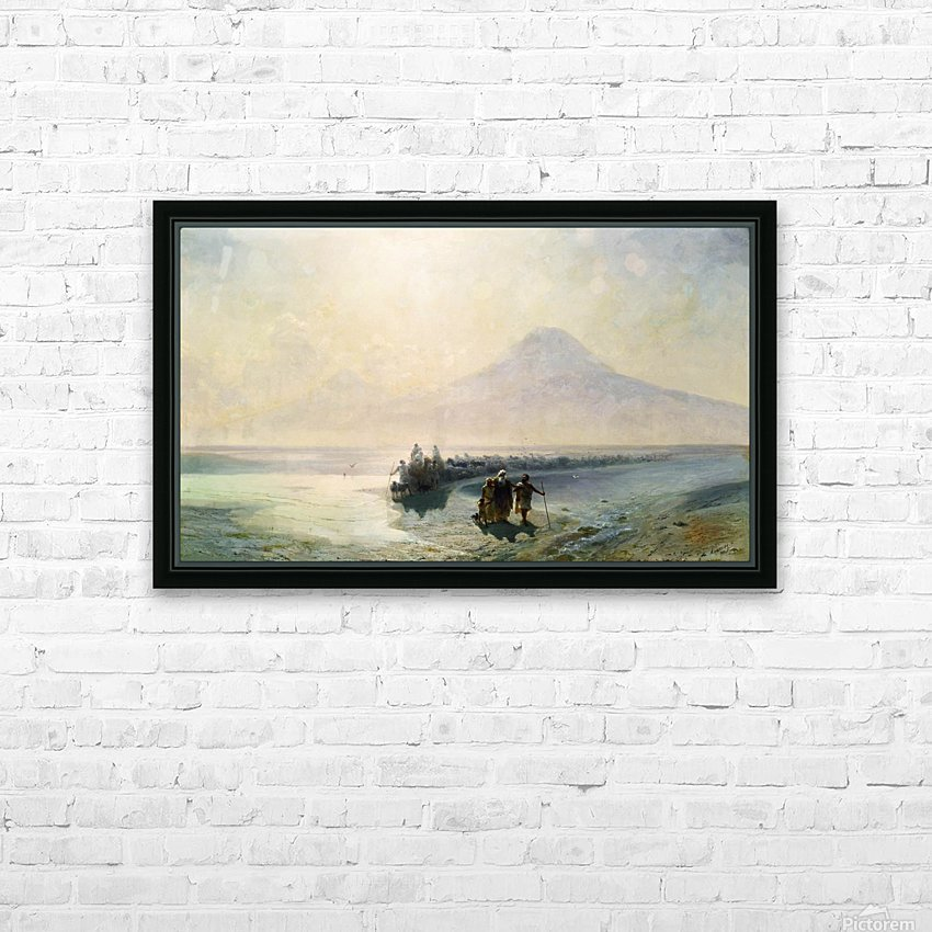 Dejection of Noah from mountain Ararat HD Sublimation Metal print with Decorating Float Frame (BOX)