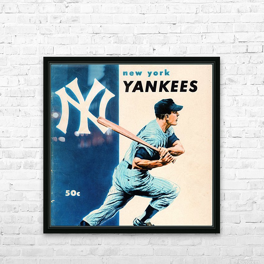 1956 New York Yankees Yearbook Wall Art HD Sublimation Metal print with Decorating Float Frame (BOX)