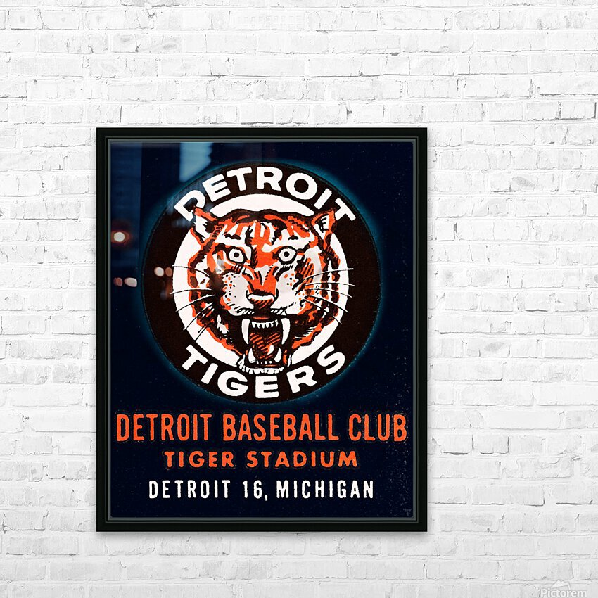 1963 Detroit Tigers Art  HD Sublimation Metal print with Decorating Float Frame (BOX)