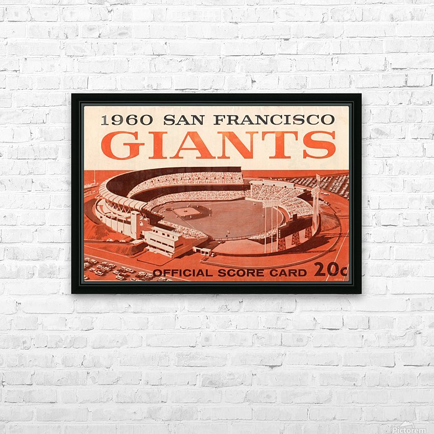 1960 San Francisco Giants HD Sublimation Metal print with Decorating Float Frame (BOX)