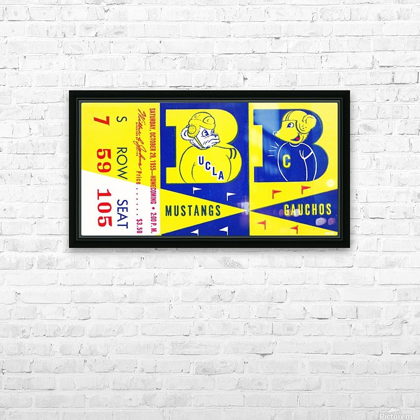 1955 UCLA  vs. Cal  HD Sublimation Metal print with Decorating Float Frame (BOX)