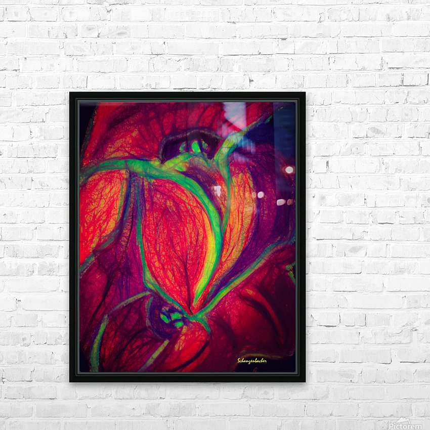 Electric Flowers HD Sublimation Metal print with Decorating Float Frame (BOX)