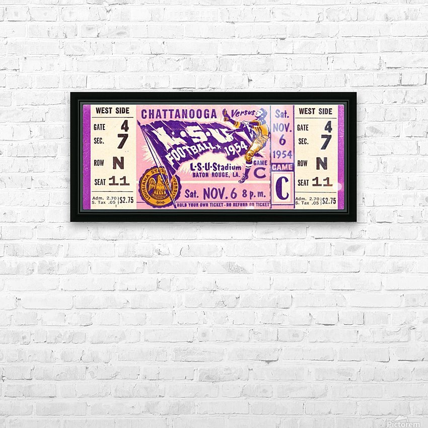 1954 Chattanooga vs. LSU HD Sublimation Metal print with Decorating Float Frame (BOX)