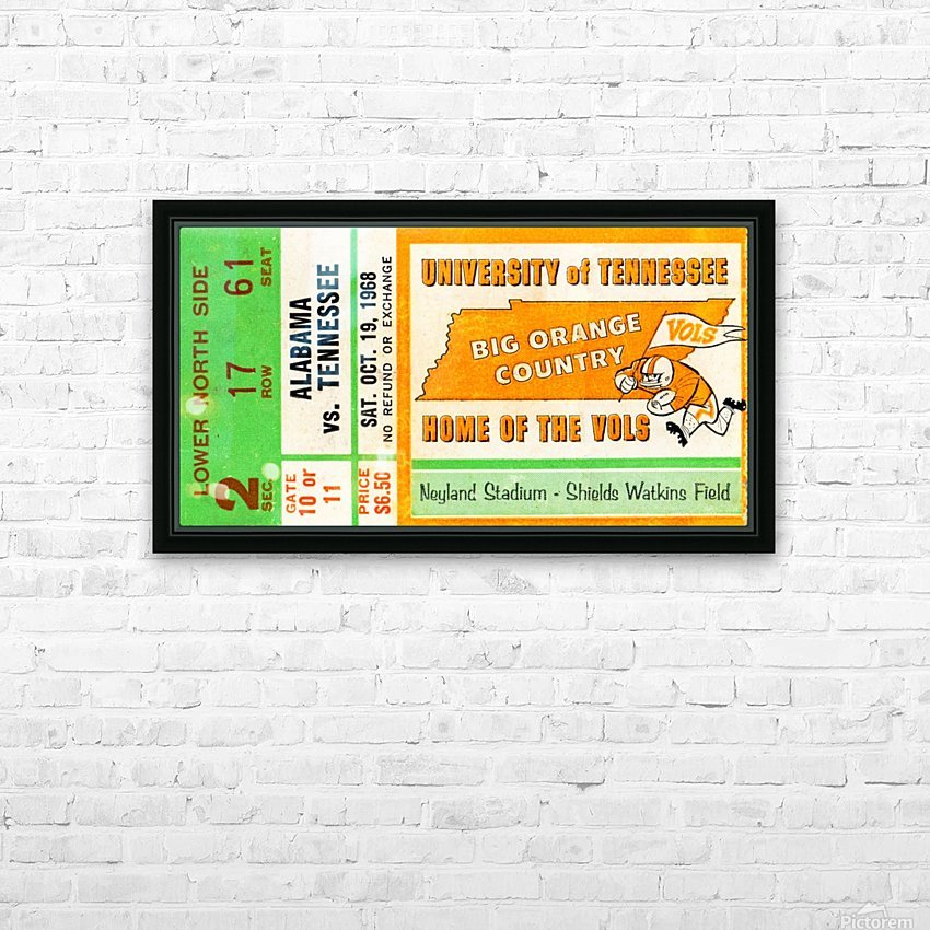 1968 Tennessee Vols Football Ticket Stub HD Sublimation Metal print with Decorating Float Frame (BOX)