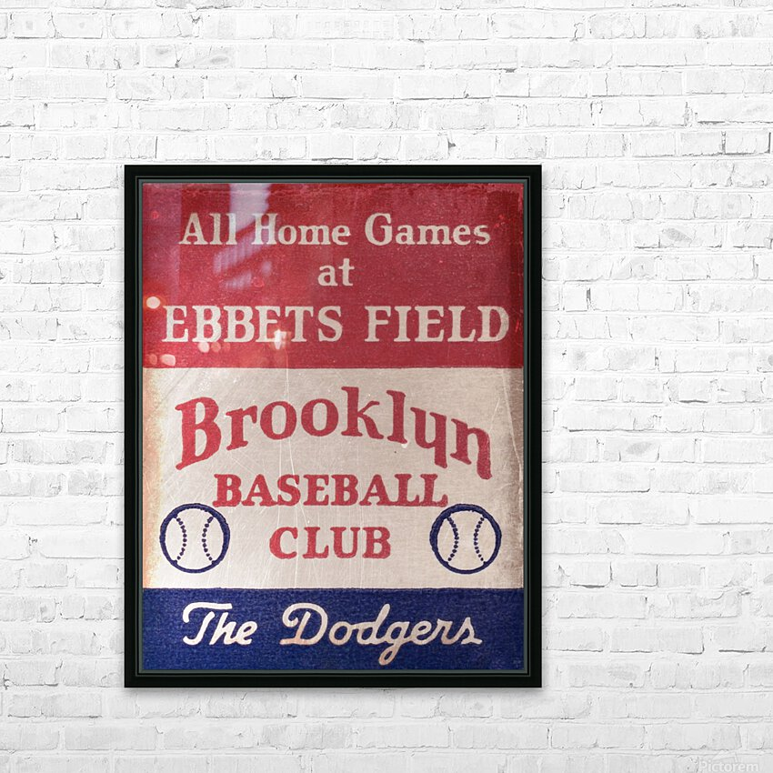 1939 Brooklyn Dodgers HD Sublimation Metal print with Decorating Float Frame (BOX)