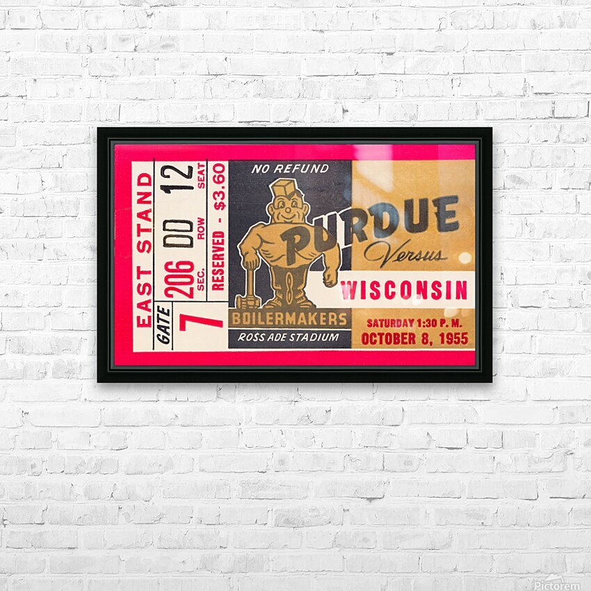 1955 Wisconsin vs. Purdue HD Sublimation Metal print with Decorating Float Frame (BOX)