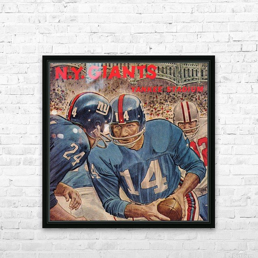 1963_National Football League_Washington Redskins vs. New York Giants_Yankee Stadium_Program_Row One (1) HD Sublimation Metal print with Decorating Float Frame (BOX)