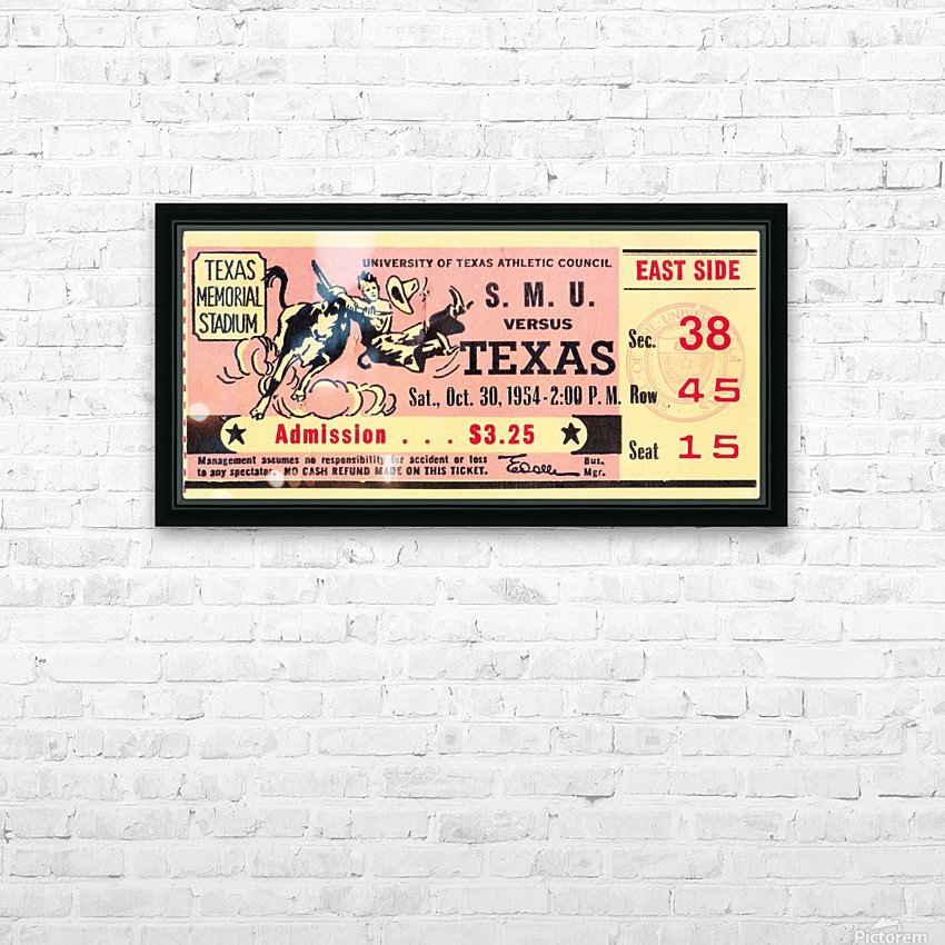 1954_College_Football_Texas vs. SMU_Texas Memorial Stadium_Austin_Row One Brand HD Sublimation Metal print with Decorating Float Frame (BOX)