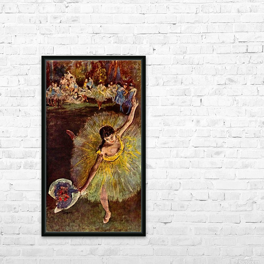 End of the arabesque by Degas HD Sublimation Metal print with Decorating Float Frame (BOX)