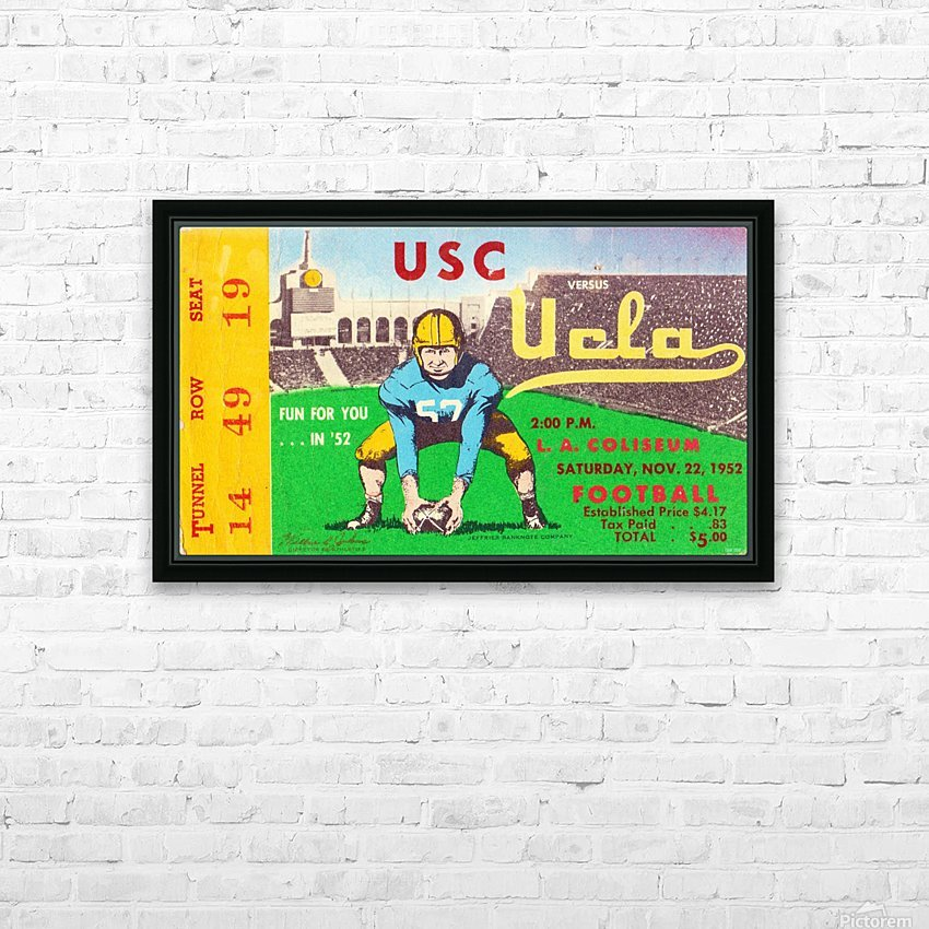 1952 USC vs. UCLA HD Sublimation Metal print with Decorating Float Frame (BOX)