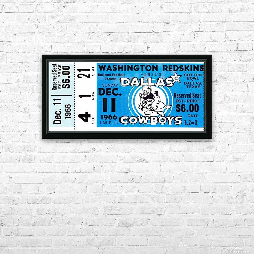 1966 Washington vs. Dallas HD Sublimation Metal print with Decorating Float Frame (BOX)