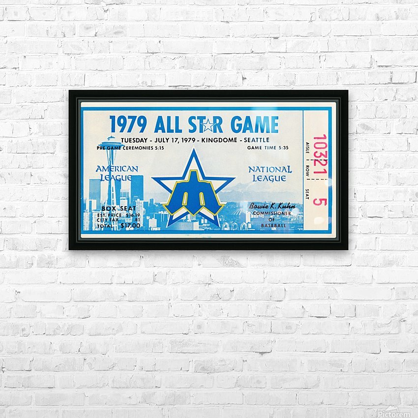 1979 Major League All-Star Game Seattle HD Sublimation Metal print with Decorating Float Frame (BOX)