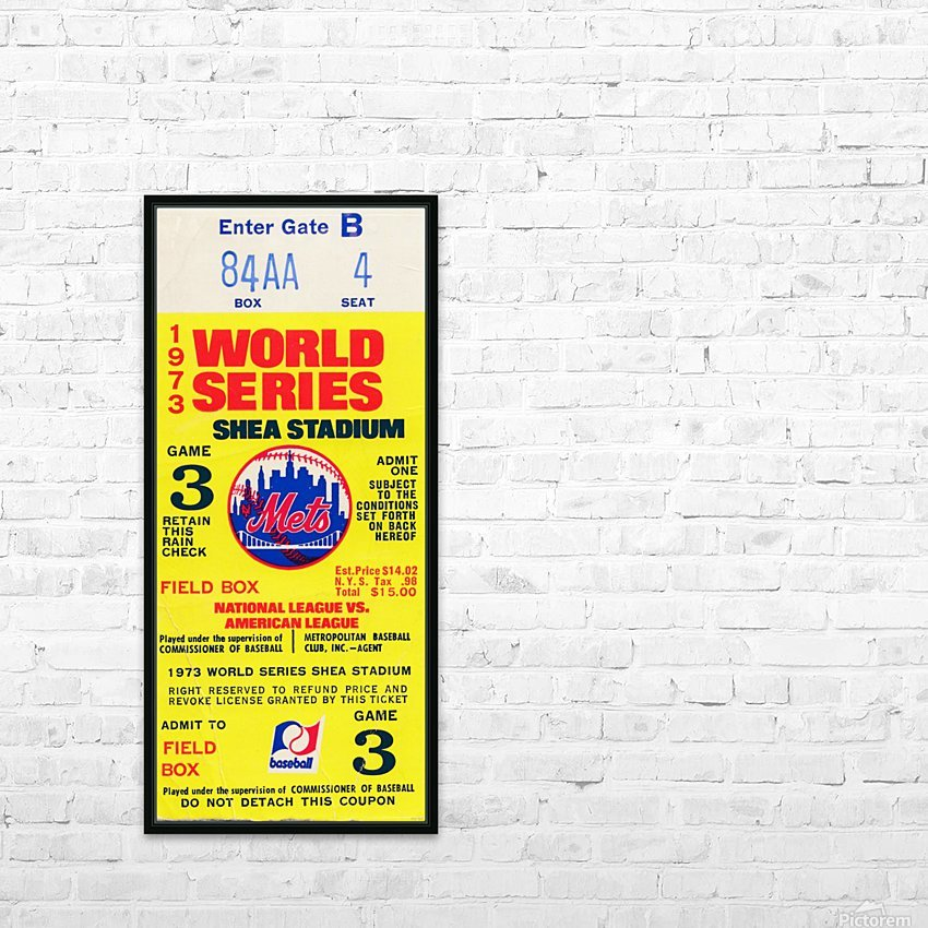 1973 World Series HD Sublimation Metal print with Decorating Float Frame (BOX)