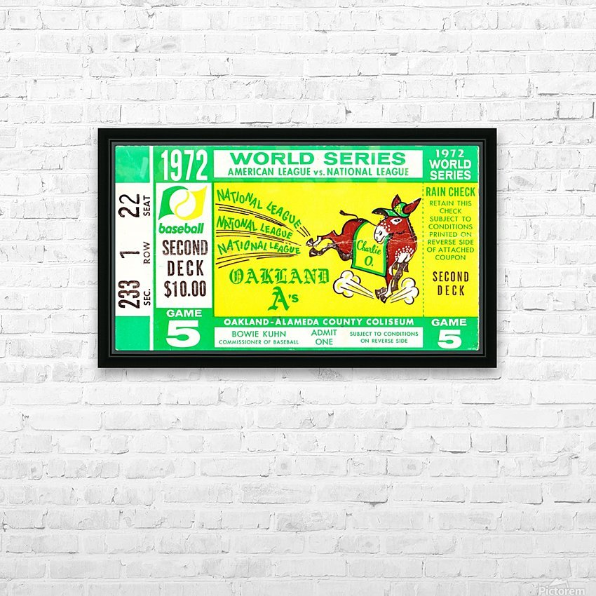 1972_Baseball_World Series_Cincinnati Reds vs. Oakland As_Oakland Alameda Coliseum_Row One HD Sublimation Metal print with Decorating Float Frame (BOX)