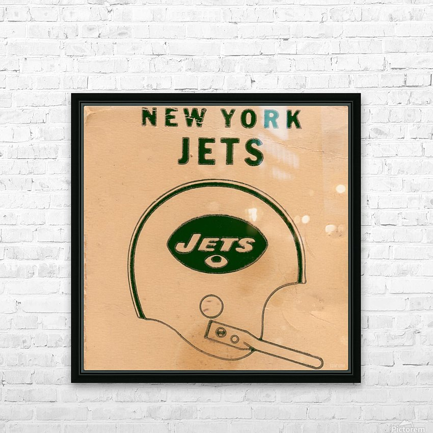 1971 New York Jets Vintage Helmet Art HD Sublimation Metal print with Decorating Float Frame (BOX)