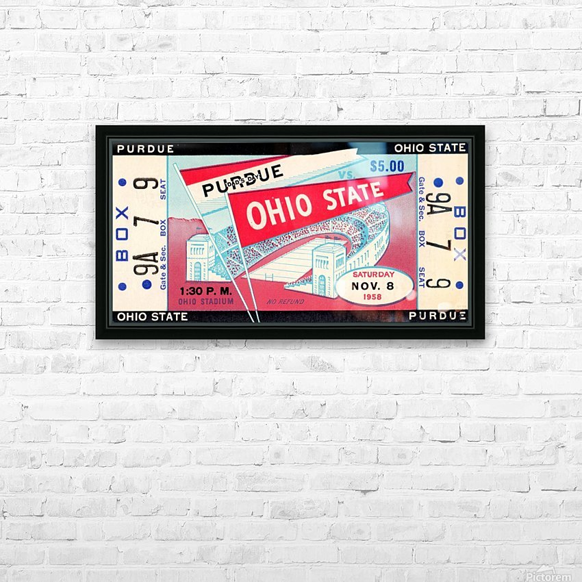 1958_College_Football_Purdue vs. Ohio State_Ohio Stadium_Row One Brand HD Sublimation Metal print with Decorating Float Frame (BOX)