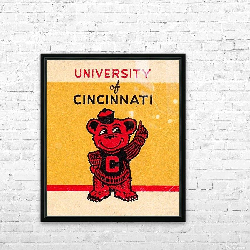 Vintage University of Cincinnati Art Reproduction HD Sublimation Metal print with Decorating Float Frame (BOX)