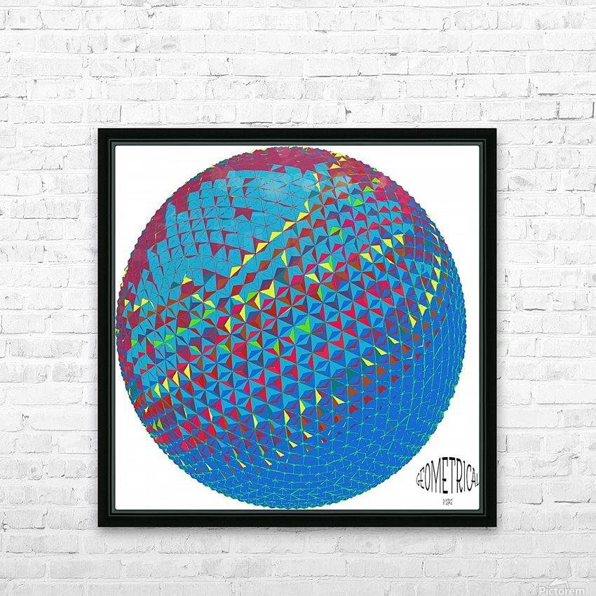 geometrical HD Sublimation Metal print with Decorating Float Frame (BOX)