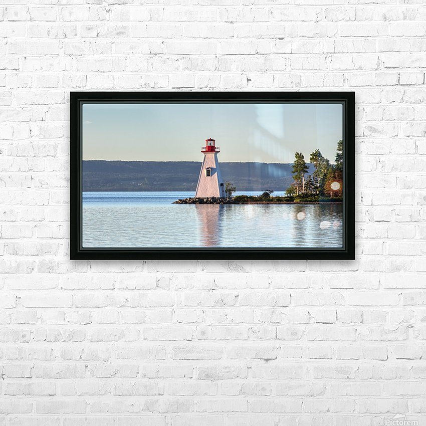 Baddeck Lighthouse HD Sublimation Metal print with Decorating Float Frame (BOX)