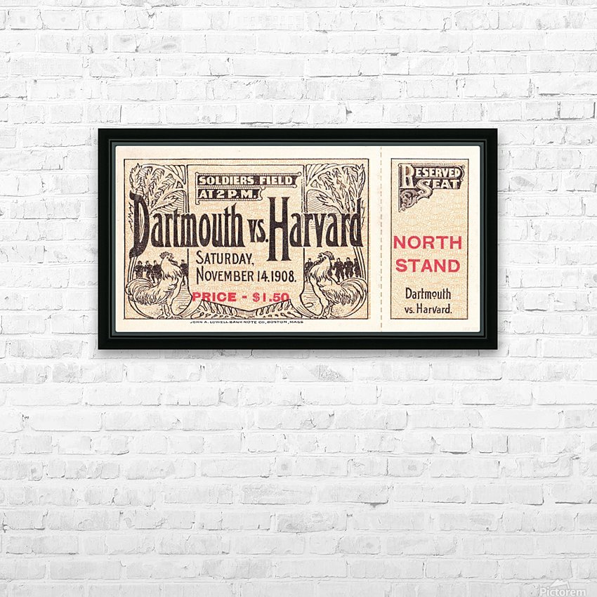 1908 Dartmouth vs. Harvard HD Sublimation Metal print with Decorating Float Frame (BOX)