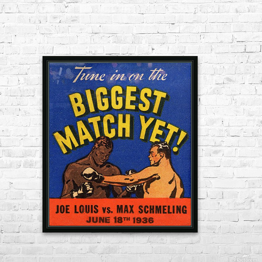 1936 Biggest Match Yet HD Sublimation Metal print with Decorating Float Frame (BOX)