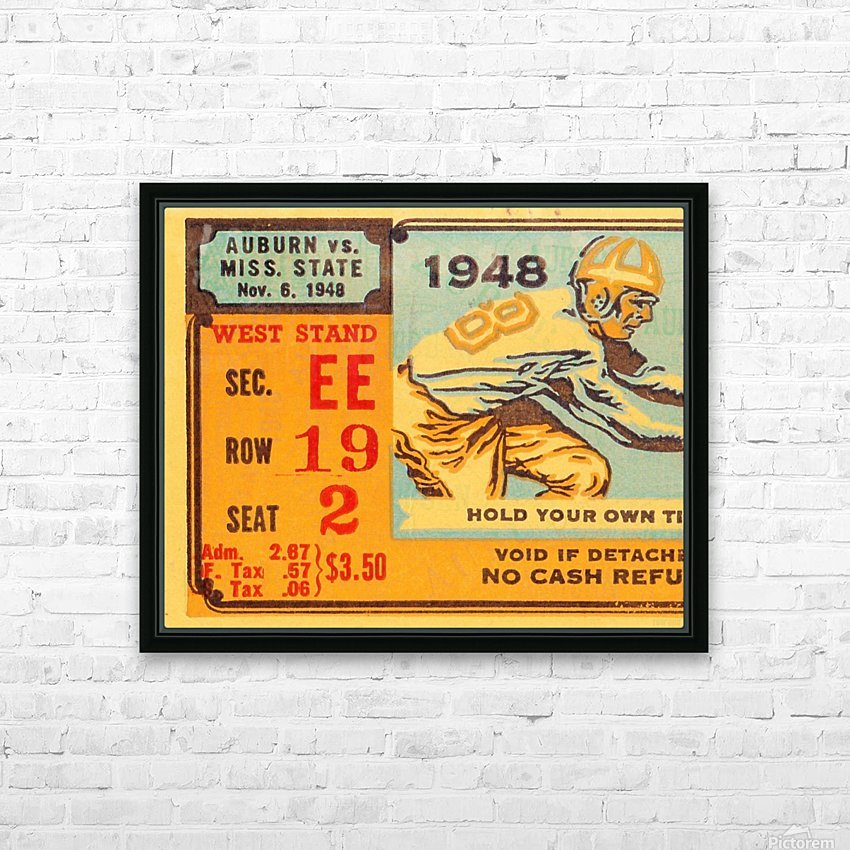 1948 Auburn vs. Mississippi State HD Sublimation Metal print with Decorating Float Frame (BOX)